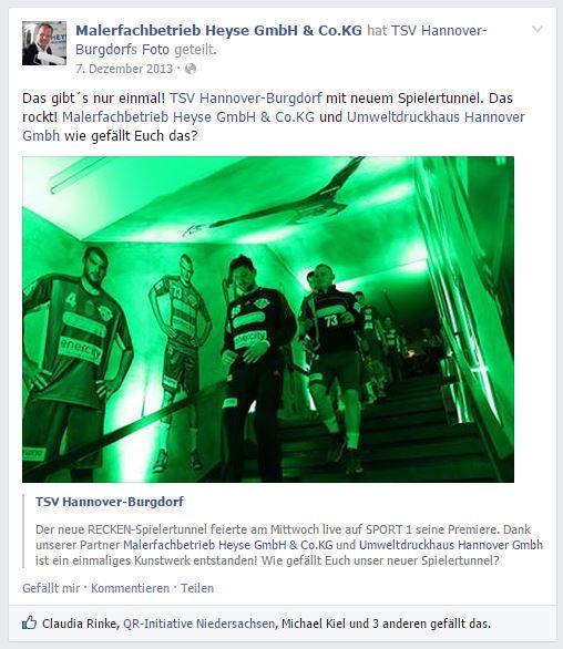 Einmaliger Spielertunnel - Die Hannover Recken rocken richtig!