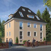 Altbau - Fassade in einem Beige, Creme, Sandton