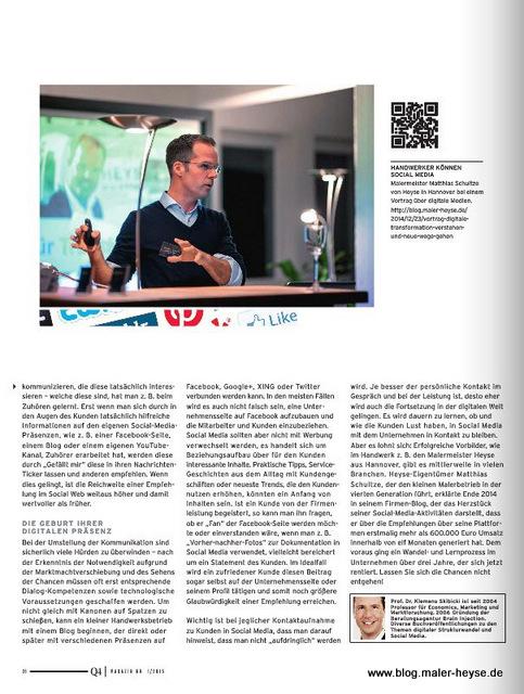 Schwenk Putztechnik Kundenmagazin Q4