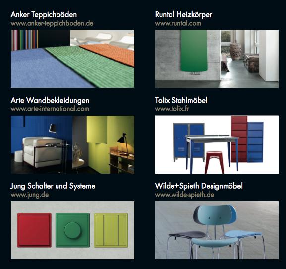 """Das """"Les Couleurs® Le Corbusier"""" Gestaltungs-Netzwerk"""