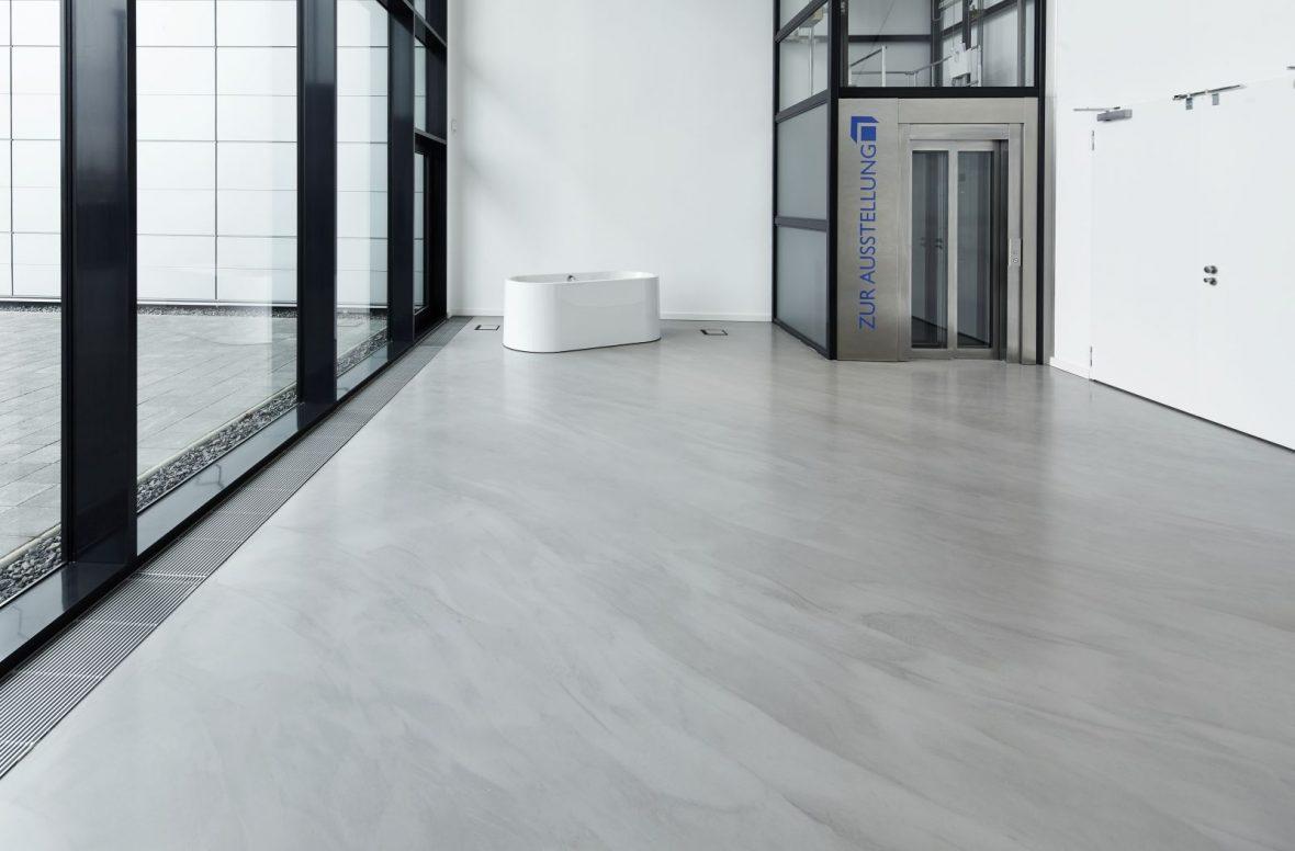 Wiedemann badausstellung hannover designboden fugenlos - Bodenbelag badezimmer fugenlos ...