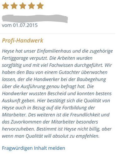 Kundenzufriedenheit Wärmedämmung Hannover