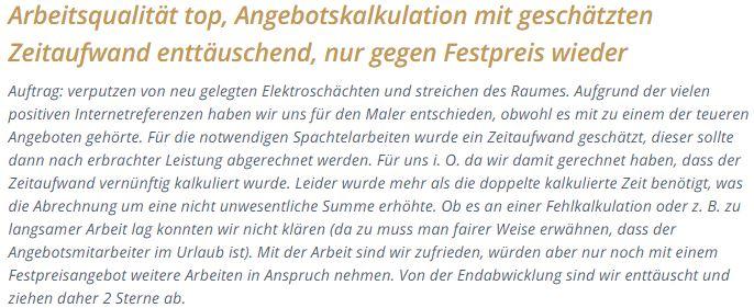 Kundenfeedback Frau Anja P. Hannover