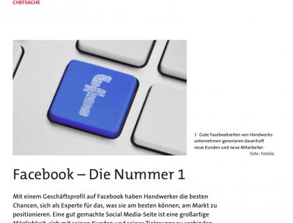 Social Media: Facebook Nr. 1