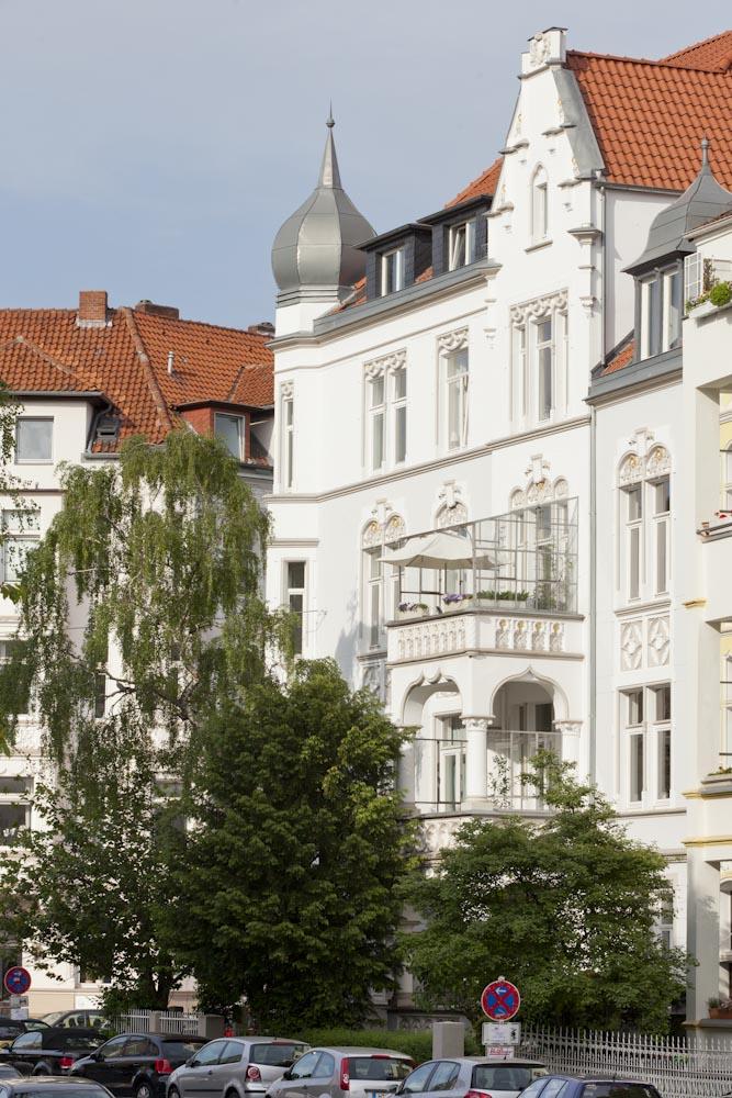 Stilvolle Sanierung Altbaufassade