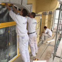 Vorarbeiten sind wichtig - Schutz von Fenstern gehört dazu