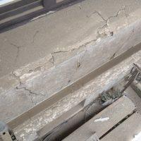 Starke Schäden an Fensterbänken