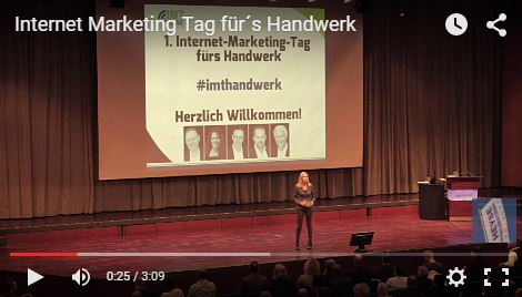 Video vom Internet Marketing Tag für´s Handwerk