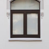 Details der sanierte Fassade