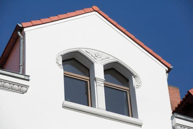 Details der sanierten Fassade