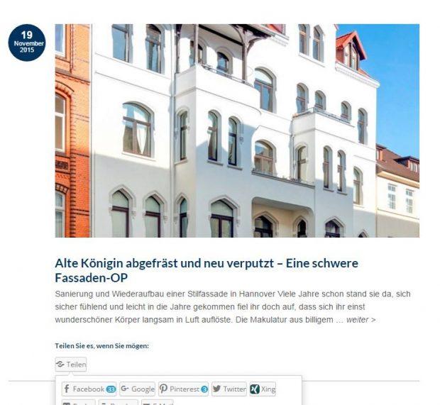 Fassade Hannover Renovierung