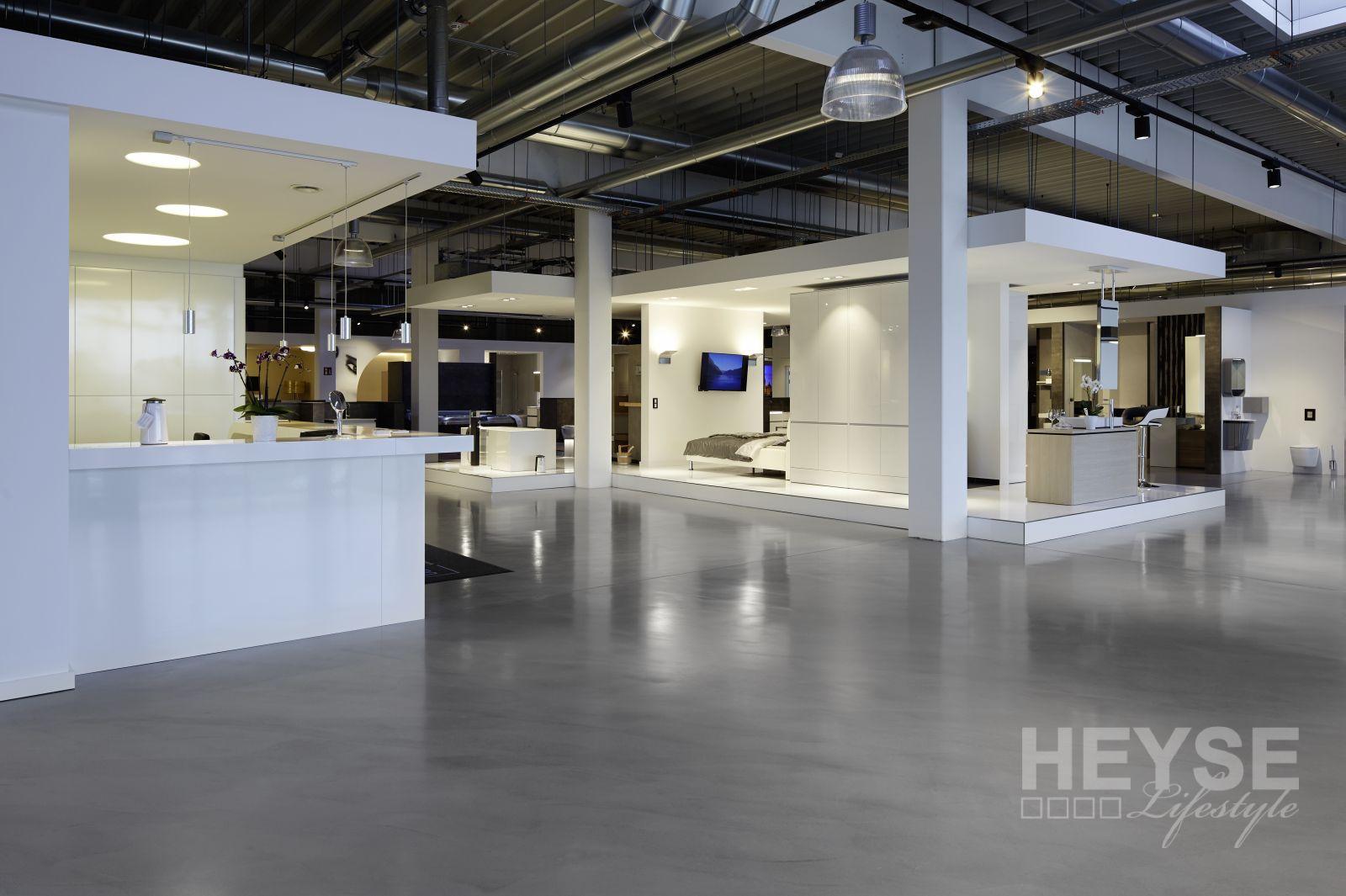 Boden im Industrielook - ausgeführt für Wiedemann Barausstellung Hannover