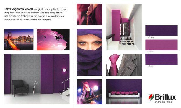 Stilkarten Fa. Brillux - Beispiel Extravagantes Violett