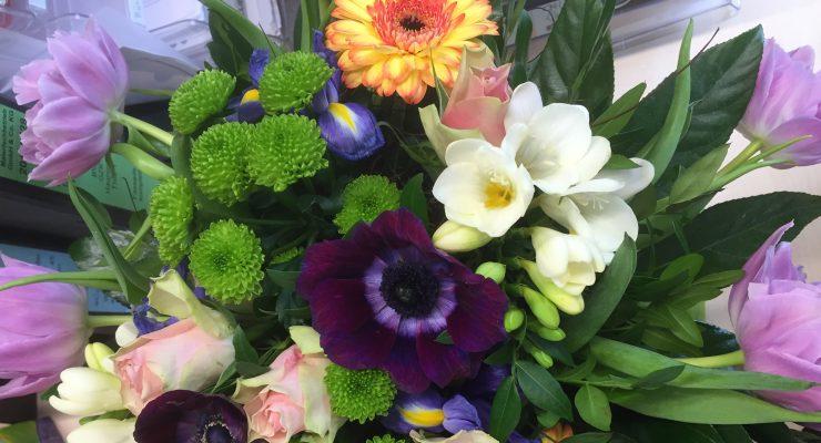 Blumen - zufriedene Kunden