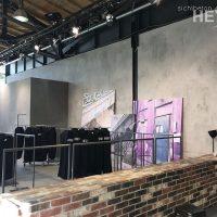 Fashionweek 2016 - Firma Drykorn - Oberflächen in Sichtbetonoptik