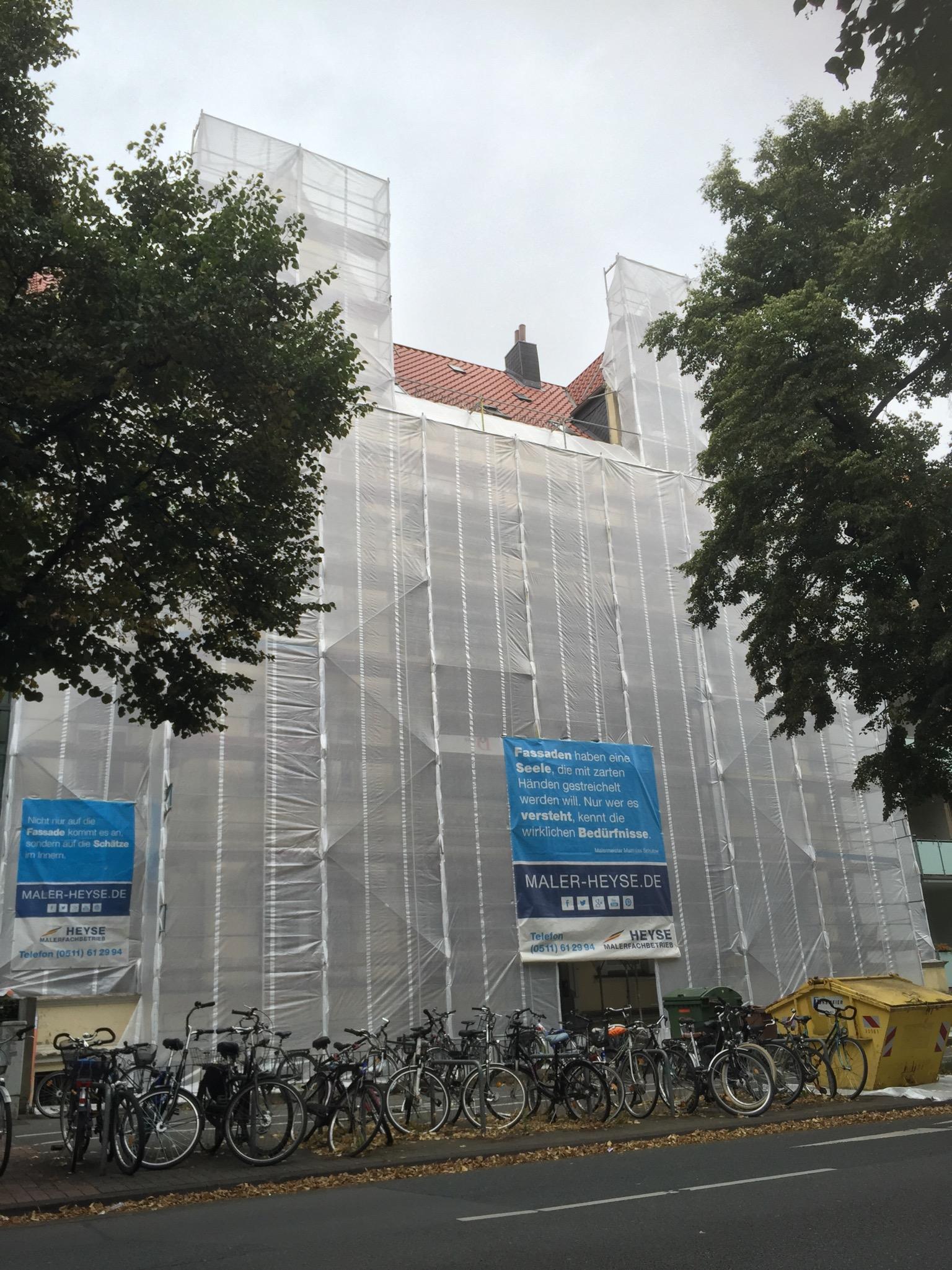 Einhausung-Wetterschutz-Fassade-Maler-Sanierung-Anstrich Faszinierend Haus Am See Garbsen Dekorationen