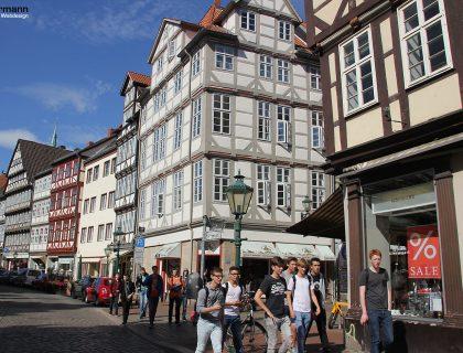 Fachwerkhäuser in der Altstadt von Hannover