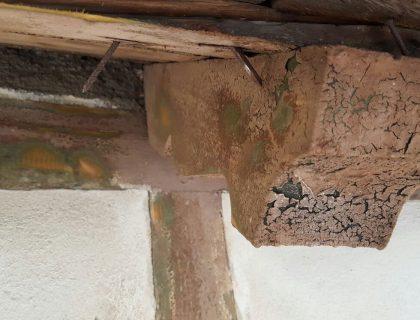 Umbau und Sanierung des Bahnhofes in Beelitz (Denkmal): Fachwerksanierung, Graffitientfernung, Wärmedämmung, Putz