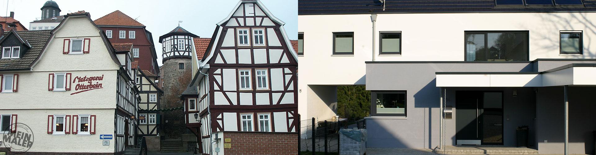 Fassadengestaltung Altbausanierung Fachwerksanierung Lauterbach Fulda Gießen