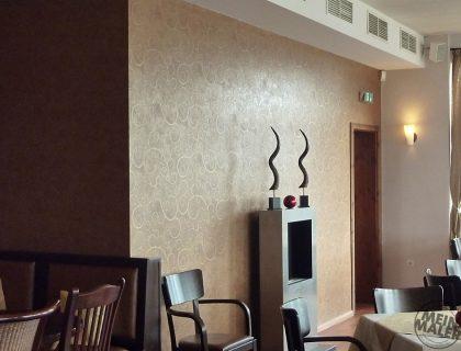 Restaurant Maruba Mannheim Vliestapete Gold