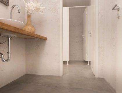 WC Lifestyle fugenlos Betonlook fugenloser Boden