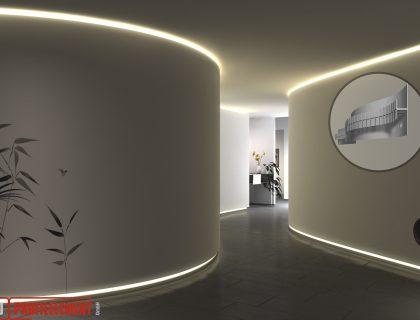 LED Lichtdesign für Rundungen