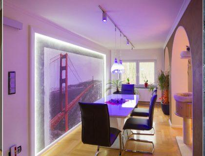 Rostoptik, Betonoptik, LED Beleuchtung, indirektes Licht, kreative Oberflächen - Malermeister Wienicke - Großräschen