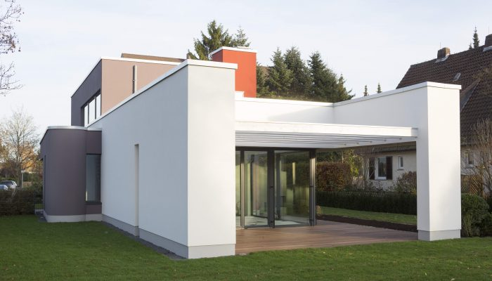 Baushaus Fassade Waermedaemmung Architektenhaus
