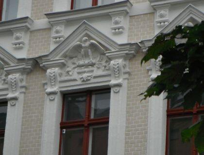 Flaeming-Malerei Treuenbrietzen / Potsdam: Stuckfassade