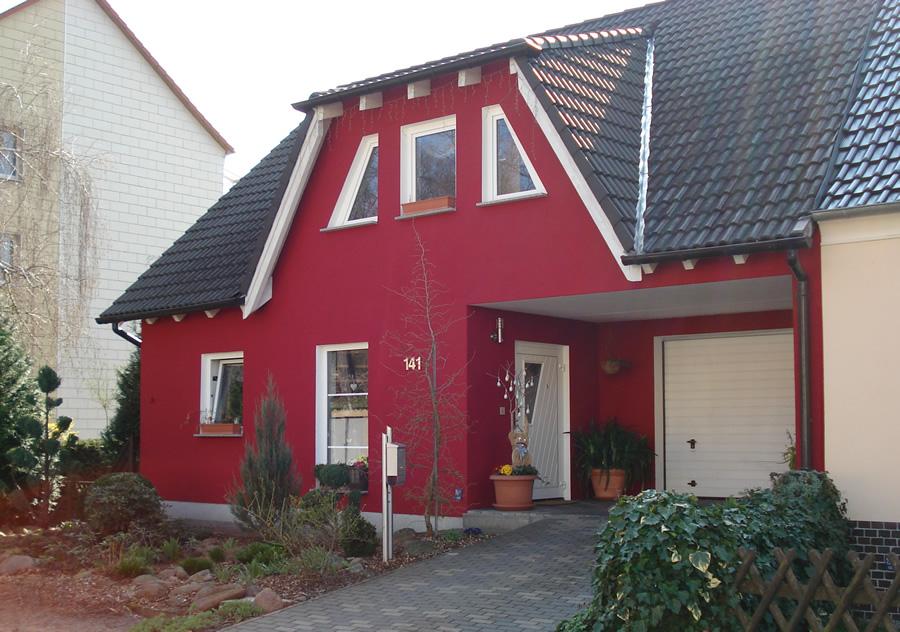 Fassadenanstrich Einfamilienhaus Jüterbog