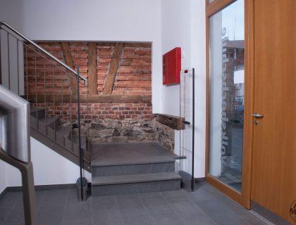 Bücherei Alter Esel in Lauterbach -Fachwerk ,Fluransicht