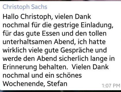 Feedback Sachs Jubiläum