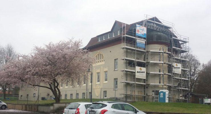 """Fassadensanierung der """"Alten Dame"""" in Lauterbach"""