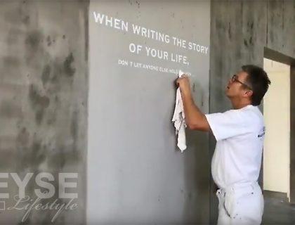 Kreative Wandgestaltung in Sichtbetonoptik