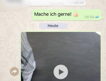 Kundenfeedback via WhatsApp