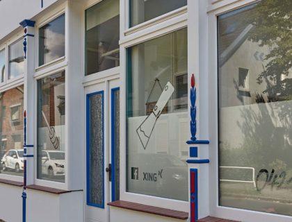 Neugestaltung der Fassade von Malerbetrieb Arno Plaggenmeier in Bremen
