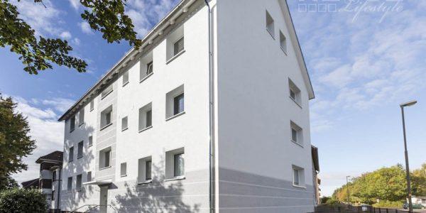Glücklicher Kunde: Wärmedämmung Fassade an einem Mehrfamilienhaus in Hannover Langenhagen