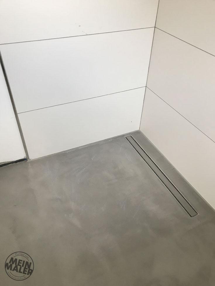 fugenloser boden betonlook boden mit savamea rustico in ratingen meinmaler partner. Black Bedroom Furniture Sets. Home Design Ideas