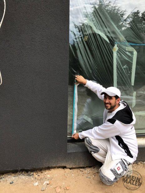 3M-Abdeckfolie mit Gewebeband Abdeckarbeiten Maler MeinMaler Fassade
