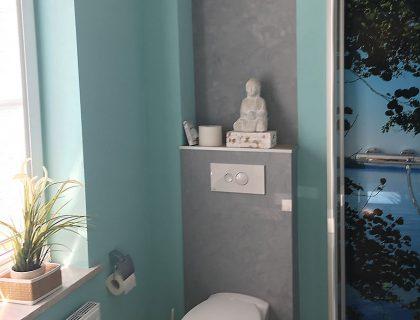 Badezimmer komplett umgestaltet - Betonoptik, fugenlos