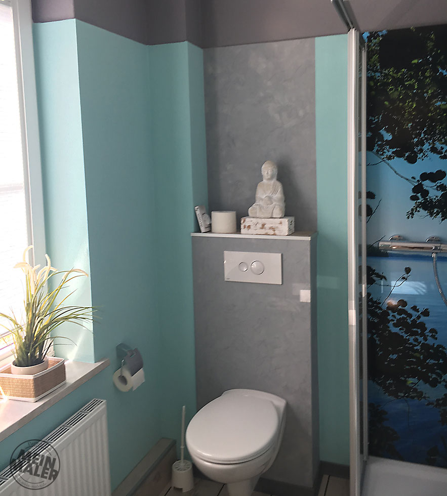 Badezimmer komplett umgestaltet - Betonoptik, fugenlos ...