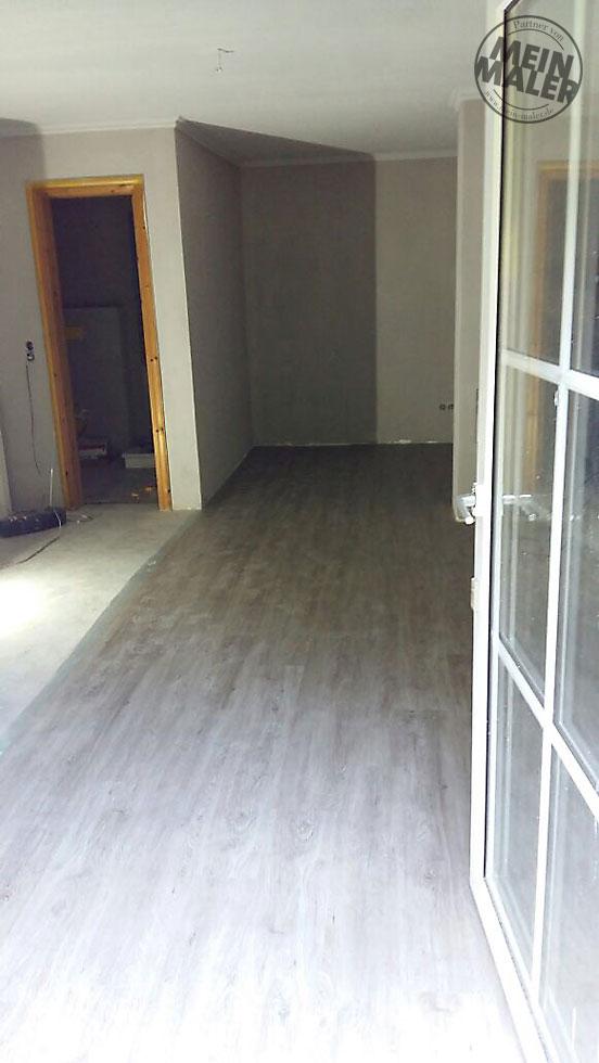 renovierung eines appartements in bad malente betonoptik streichputz vinyl plankenbelag. Black Bedroom Furniture Sets. Home Design Ideas