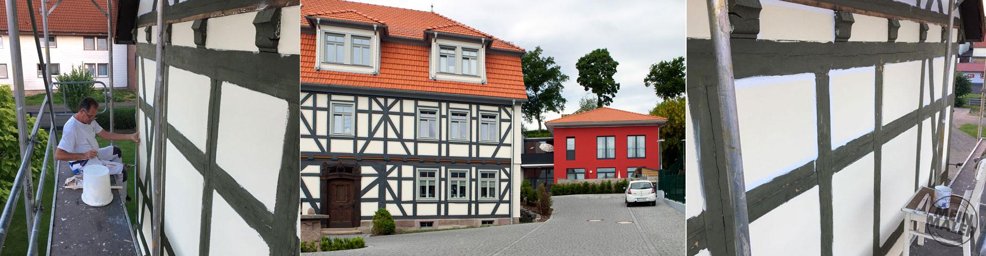 Sachs Raumwerkstatt - Lauterbach Umbau einer Schreinerei - Fachwerkfassaden-Sanierung