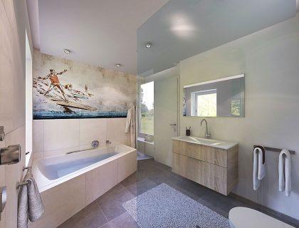 Tapete im Badezimmer - Wandtapeten als kreative Alternative ...