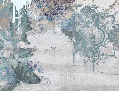 Italienische Designtapeten von Tecnografica - 60337 The Sisters Koi Wallpaper - Lieblingsmaler.de
