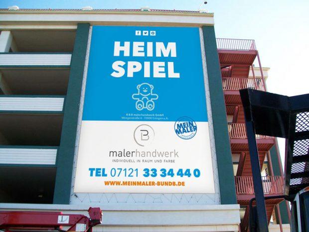 Gerüstbanner - MeinMaler BundB Eningen