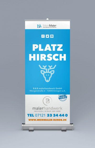 Roll-Up-Display - Ein toller Hingucker MeinMaler BundB Eningen