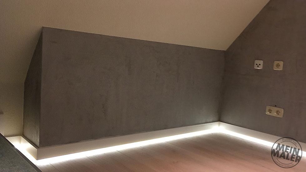 Dachboden Neugestaltung Betonoptik Led Beleuchtung Mein Malerde