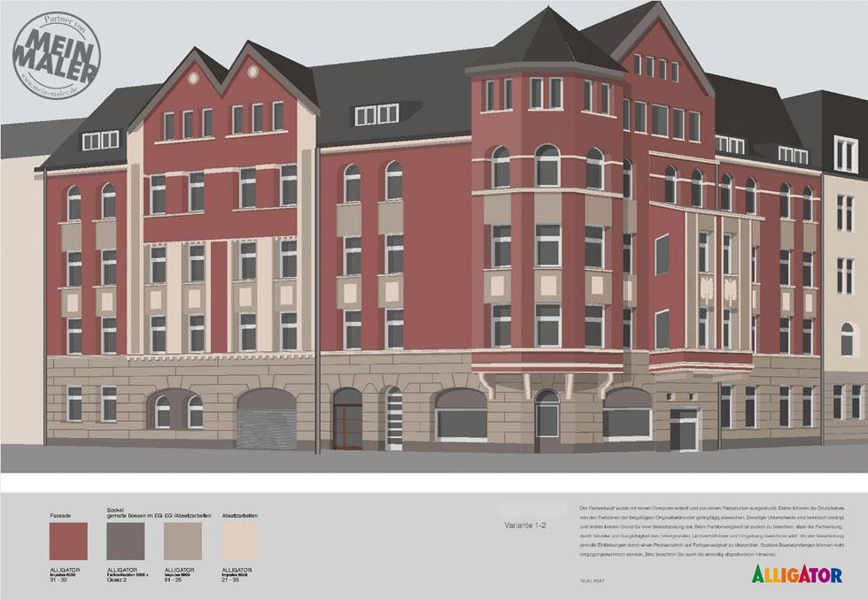 Farbentwurf Fassadensanierung Hannover