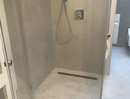Dusche Betonlook Wuppertal Betonoptik Ablage Spachteltechnik